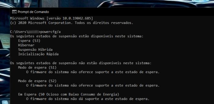 Modern Standby no Windows 10 (Imagem: reprodução)