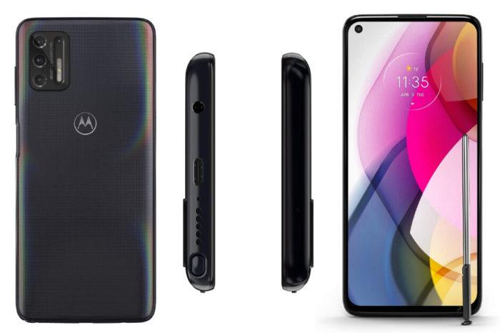 Suposto Motorola Moto G Stylus (2021) (Imagem: Reprodução/phoneArena)