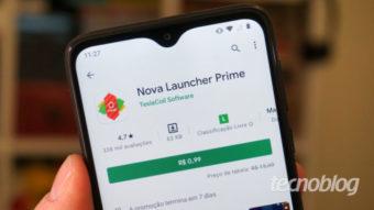 Nova Launcher Prime para Android entra em promoção por R$ 0,99