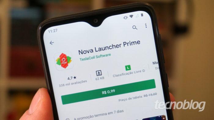 Nova Launcher Prime will be on sale (Image: André Fogaça / Tecnoblog)