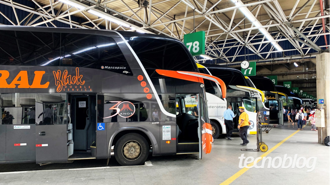 Buses at Tietê Bus Terminal (image: Emerson Alecrim / Tecnoblog)