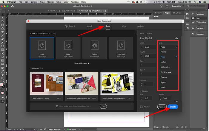 Criando tipo e formato de arquivo no InDesign