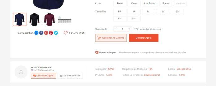 É possível comprar pelo Site Oficial (Imagem: Reprodução / Shopee)
