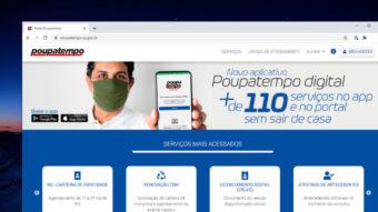 Poupatempo chega a 110 serviços online, incluindo renovação de CNH