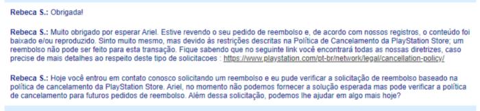 Trecho do pedido negado do Ariel (Imagem: Felipe Vinha/Tecnoblog)