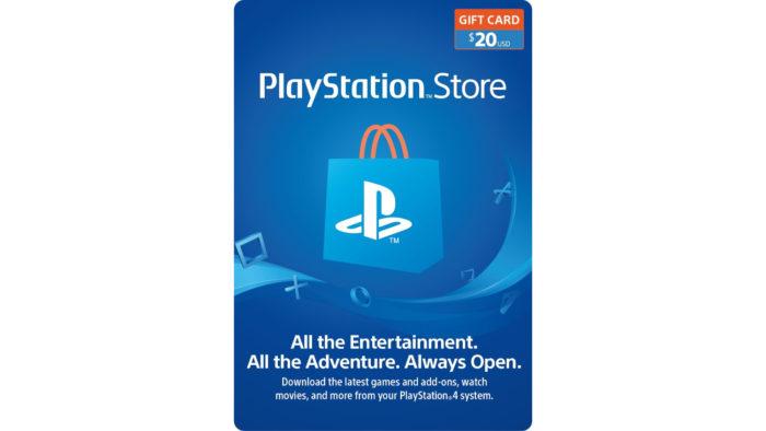 Cartão de vale-presente da PSN norte-americana (Imagem: Divulgação/Sony) / comprar jogos ps5