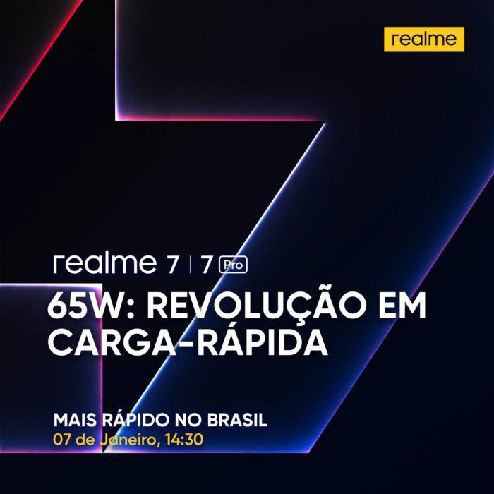 Pôster de divulgação da estreia da Realme no Brasil