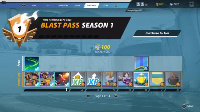 Blast Pass de Rocket Arena (Imagem: Divulgação/Final Strike Games/Electronic Arts)