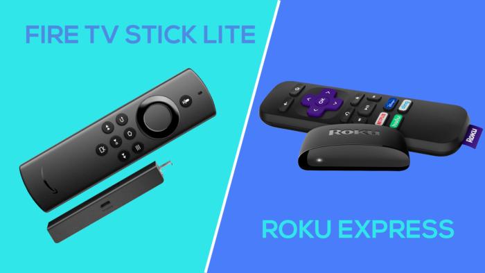 Amazon Fire TV Stick Lite vs. Roku Express (Imagem: Tecnoblog)