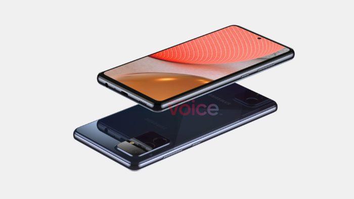 Suposto Samsung Galaxy A72 (Imagem: Reprodução/Steve Hemmerstoffer)