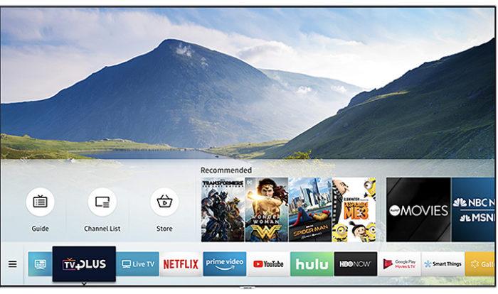 Sistema Tizen de TVs Samsung (Imagem: Divulgação/Samsung)