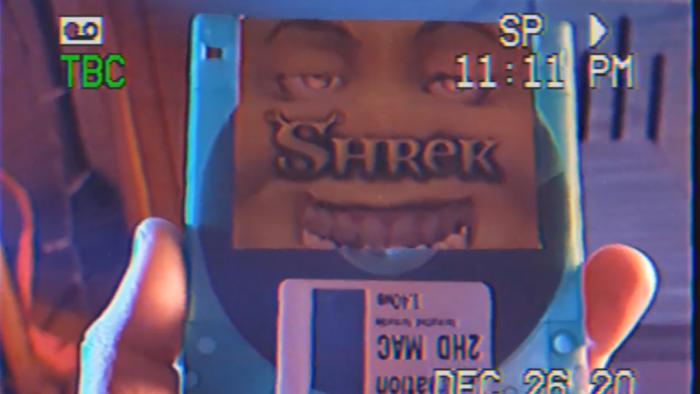 Filme de Shrek vai parar em um disquete de 1,44 MB (Imagem: reprodução/Reddit)
