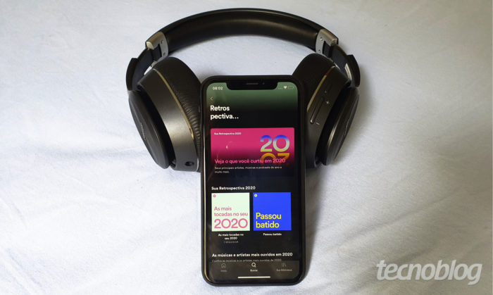 Retrospectiva 2020 do Spotify (Imagem: Bruno Gall De Blasi/Tecnoblog)