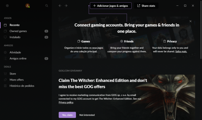 The Witcher Free (Image: Playback / GOG)