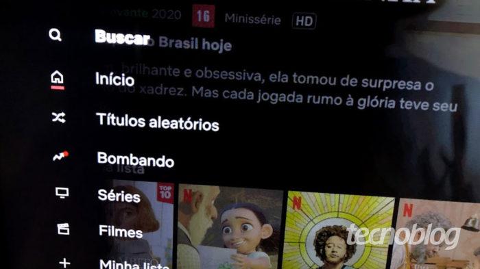 Títulos aleatórios na Netflix (Imagem: Victor Hugo Silva/Tecnoblog)