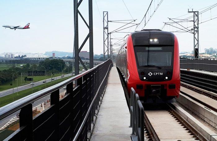 Trem da CPTM (imagem original: CPTM)