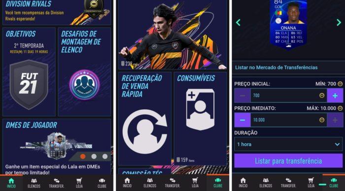 Selecione jogadores e coloque à venda pelo Companion App (Imagem: Reprodução / FUT Companion App)