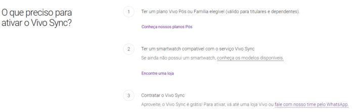 Vivo Sync fica gratuito e leva conectividade para Apple Watch e Galaxy Watch (Imagem: Reprodução/Site Vivo)