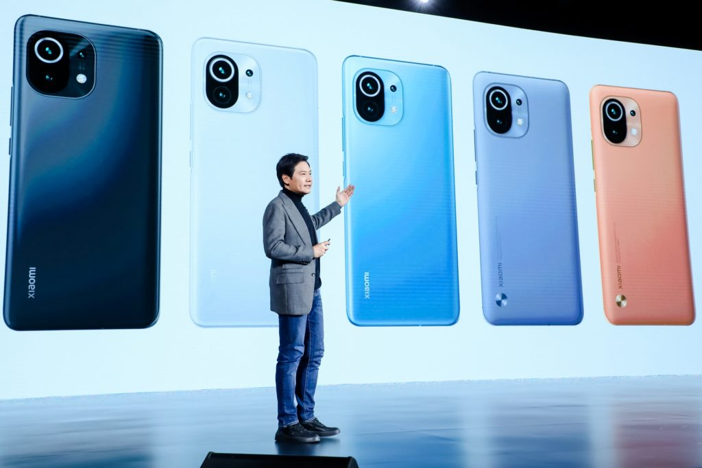 Lançamento do Xiaomi Mi 11 na China (Imagem: Divulgação/Xiaomi)