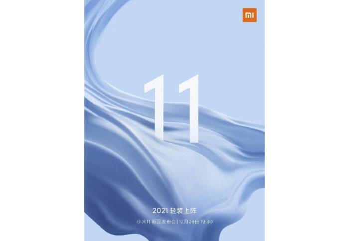 Poster de lançamento para o sucessor do Xiaomi Mi 10 (Imagem: Divulgação/Xiaomi)