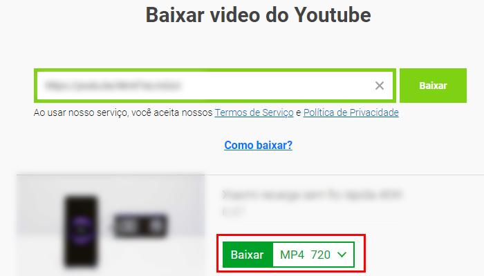 Processo para baixar um vídeo do YouTube no Chrome (Imagem: Reprodução/Savefrom)