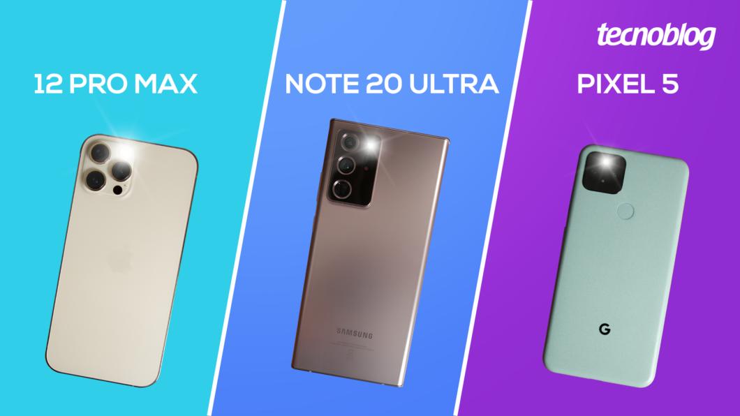 iPhone 12 Pro Max, Galaxy Note 20 Ultra ou Pixel 5: qual tem a melhor câmera? (Imagem: Vitor Pádua/Tecnoblog)