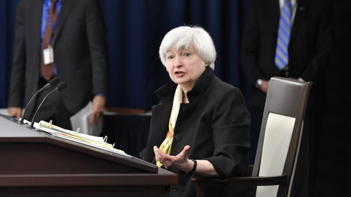 Janet Yellen, US Treasury Secretary, indicates possible interest rate hike (Image: Federal Reserve / Flickr)