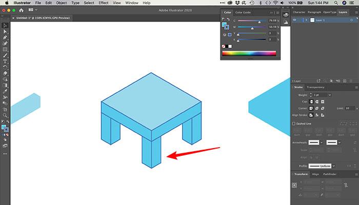 Editando formas expandidas no Illustrator