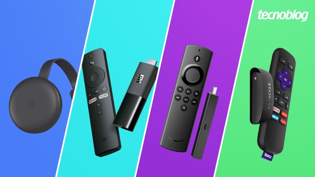 Chromecast, Mi TV Stick, Fire TV Stick Lite ou Roku Express: qual é o melhor? (Imagem: Vitor Pádua/Tecnoblog)