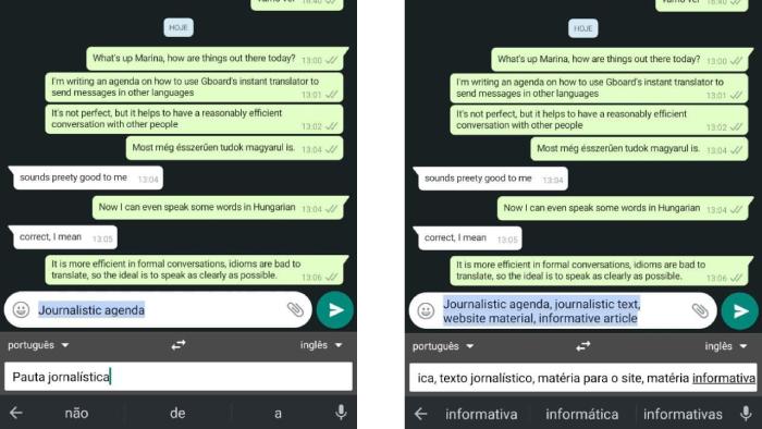 Buscar sinônimos em seu idioma facilita a tradução no WhatsApp (Imagem: Leandro Kovacs/Reprodução)
