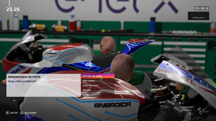O engenheiro da equipe pode auxiliar no ajuste da moto (Imagem: Leandro Kovacs/Reprodução)