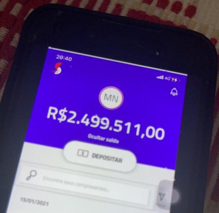 Prints alegam que bug do Pix deixou algumas pessoas milionárias (Imagem: Reprodução/Twitter)