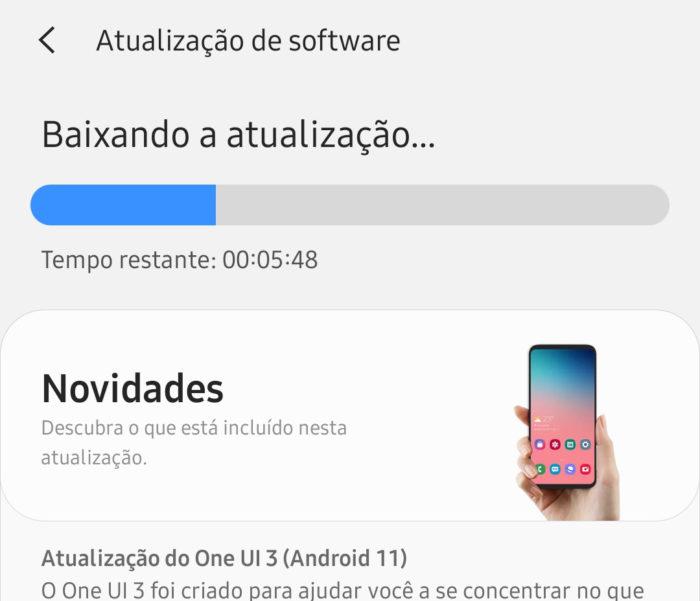 Galaxy S20 FE recebe Android 11 (Imagem: Reprodução/Willian Miguel)