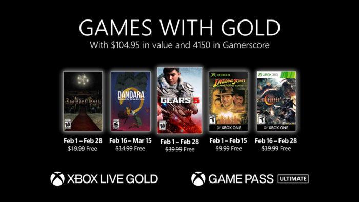 Xbox Live Gold fevereiro 2021