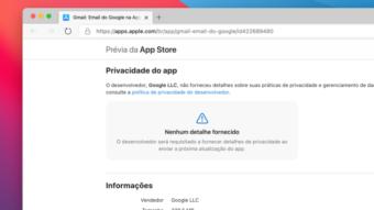 """Google """"enrola"""" para adicionar dados de privacidade na App Store"""