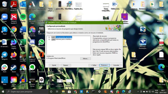 Customizando instalação do LibreOffice (Imagem: Leandro Kovacs/Reprodução)