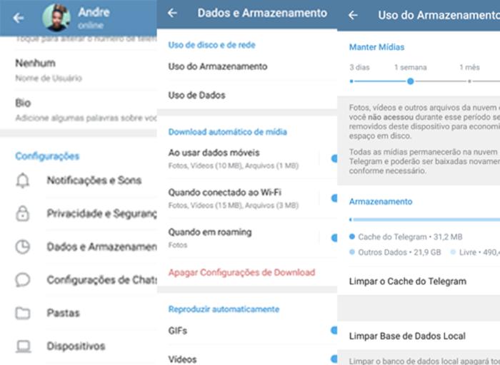 Como acessar a nuvem do Telegram