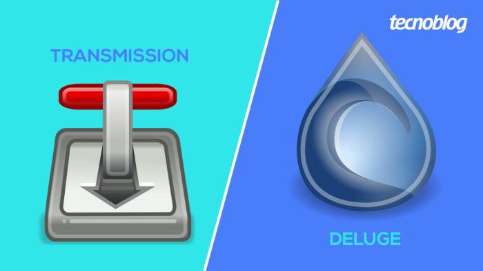 Transmission ou Deluge? (Imagem: Tecnoblog)