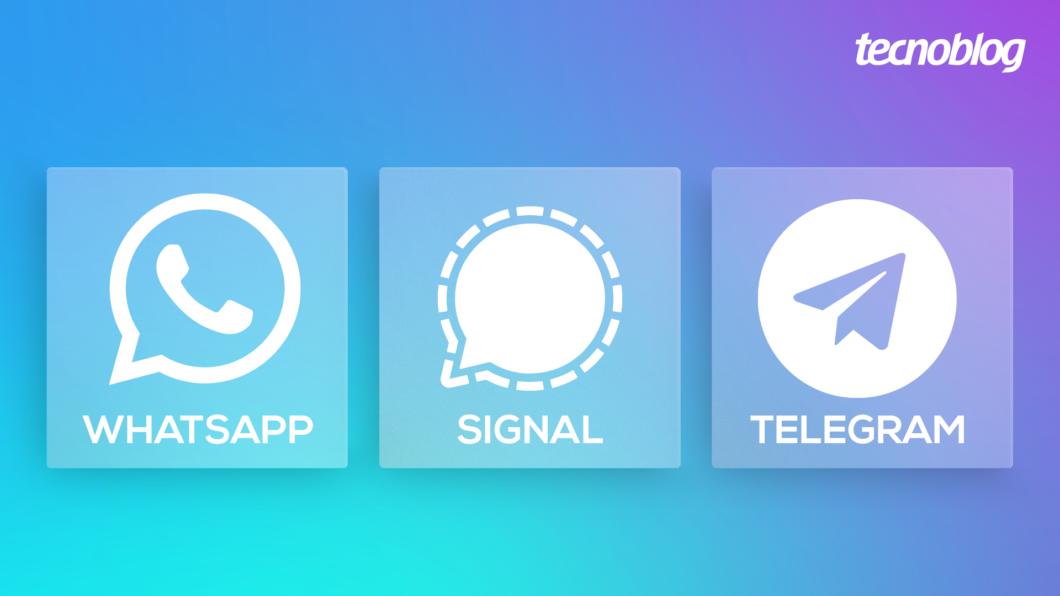 WhatsApp, Signal ou Telegram? (Imagem: Vitor Pádua/Tecnoblog)