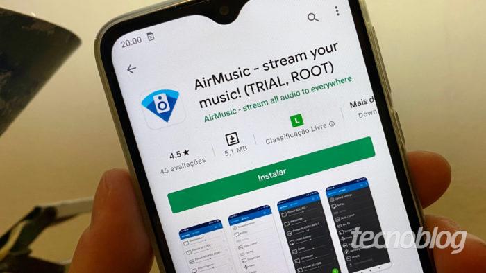 AirMusic no Android (Imagem: André Fogaça/Tecnoblog)