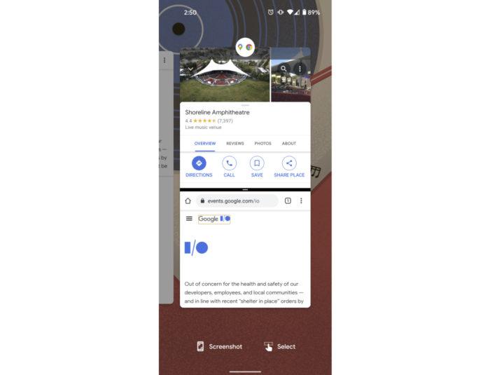 Conceito de como deve funcionar o App Pairs do Android 12 (Imagem: Reprodução/9to5Google)