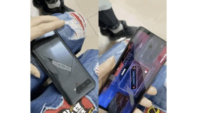Suposto Asus ROG Phone 5 com tela secundária (Image: Reprodução / GSMArena)