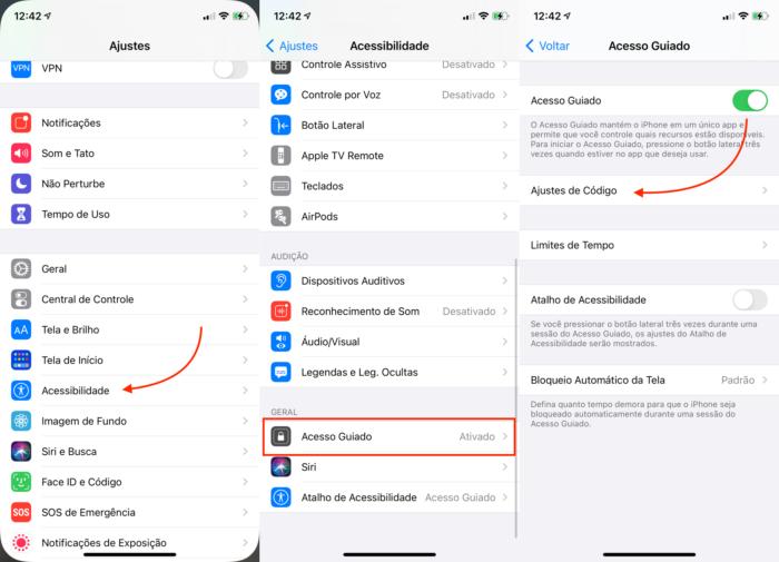 Ativar o Acesso Guiado no iPhone (Imagem: Reprodução/Apple)