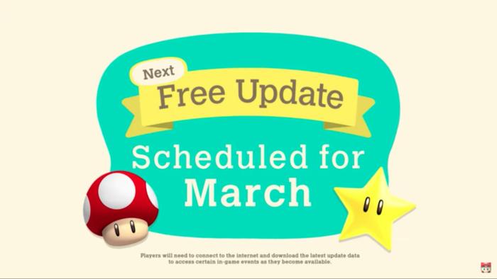 Atualização com Mario para Animal Crossing: New Horizons (Imagem: Divulgação/Nintendo)