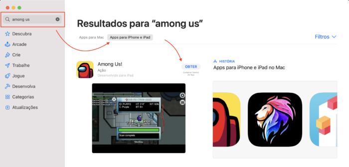 Baixar apps do iPhone ou iPad no Mac (Imagem: Reprodução/Apple)