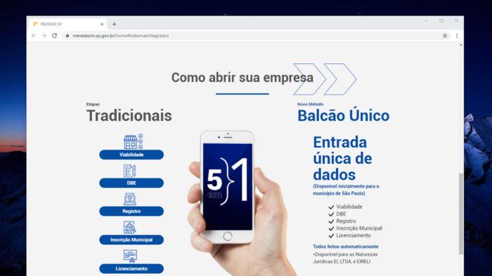 Balcão Único de São Paulo (Imagem: Reprodução)