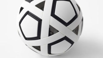 Bola de futebol da Nendo nunca precisa ser inflada