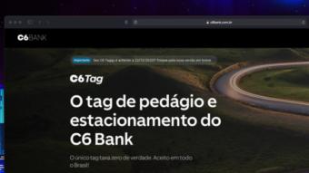 C6 Bank expande tag grátis para funcionar em estacionamentos