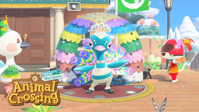 Evento de Carnaval em Animal Crossing: New Horizons (Imagem: Divulgação/Nintendo)