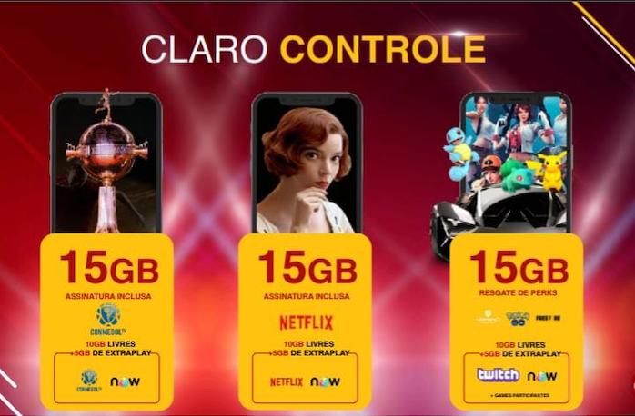 New Claro Controle plans (Image: Disclosure / Claro)